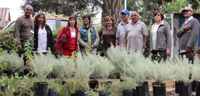 Una Importante donación de Plantas Medicinales realizó CONAF a nuestro CESFAM – Jardín Medicinal.